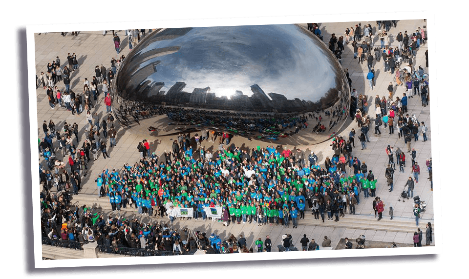 donate life illinois at the bean in chicago